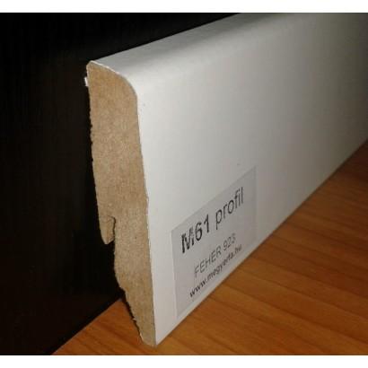 MF M61 profil fehér szegélyléc/laminált padlóhoz