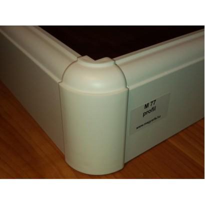 MF M77 profil fehér szegélyléc/laminált padlóhoz
