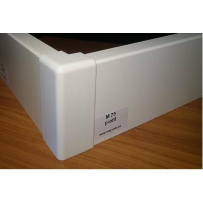 MF M75 profil fehér szegélyléc/laminált padlóhoz